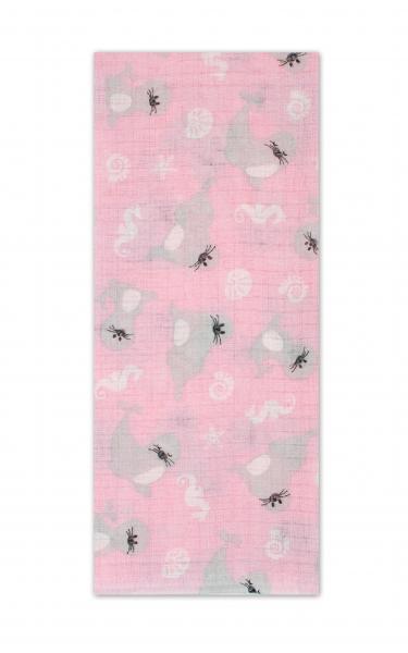 Darland Tetrová plenka Basic 70x80cm - Lachtánci v růžové