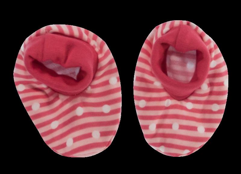 Kojenecké botičky/ponožtičky Love Girl, červené