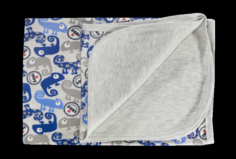 Dětská deka, dečka Chameleon,  80x90 - bavlna, modrá