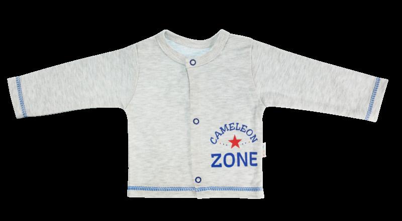 Bavlněná košilka Chameleon, šedá, vel. 74, Velikost: 74 (6-9m)