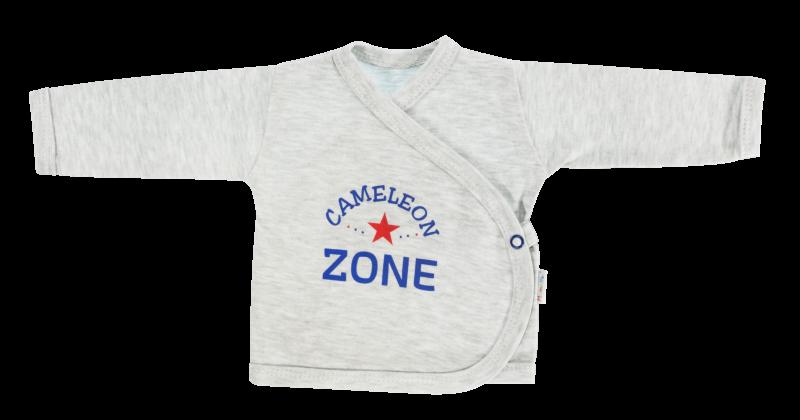 Mamatti Novorozenecká košilka Chameleon - zapínání bokem, šedá, vel. 62