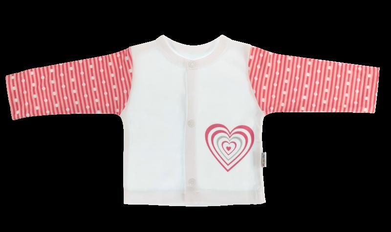 Bavlněná košilka Love Girl  - bílo/červená, Velikost: 56 (1-2m)