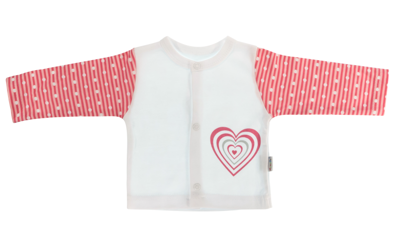 Bavlněná košilka Love Girl  - bílo/červená, vel. 62