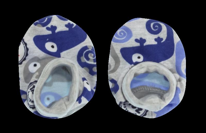 Kojenecké botičky/ponožtičky Chameleon, modré/šedá