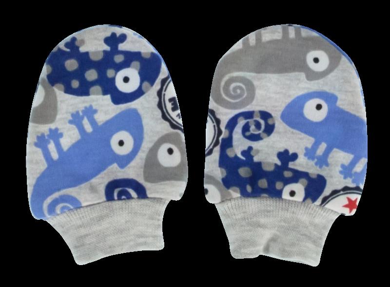 Kojenecké rukavičky Chameleon, modré/šedá
