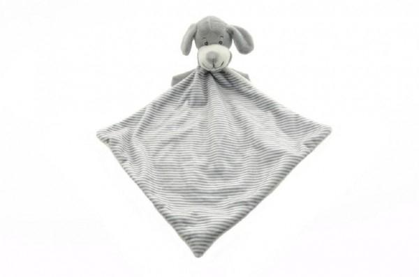 Pejsek šedý usínáček plyš 25cm v sáčku 0+