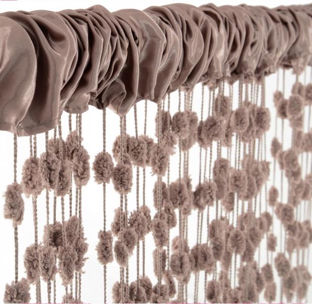 Dětská záclona nejen do pokojíčku Baby Ball, 250x160 cm, mocca - 1ks