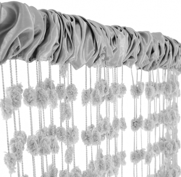 Dětská záclona nejen do pokojíčku Baby Ball, 250x240 cm, sv. šedá - 1ks - 250x240