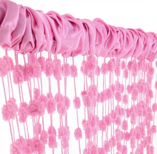 Dětská záclona nejen do pokojíčku Baby Ball, 250x240 cm, růžová - 1ks