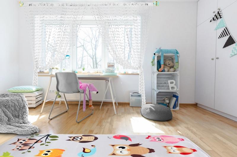 Dětská záclona nejen do pokojíčku Baby Ball, 250x240 cm, bílá - 1ks