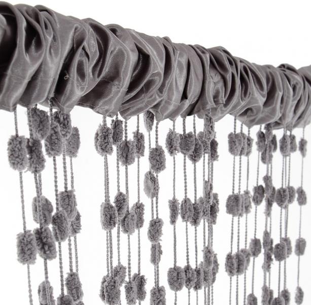 Dětská záclona nejen do pokojíčku Baby Ball, 150x240 cm, tm. šedá - 1ks