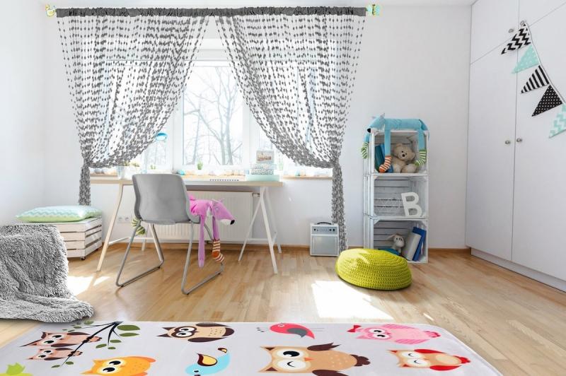 Dětská záclona nejen do pokojíčku Baby Ball, 250x240 cm, tm. šedá - 1ks