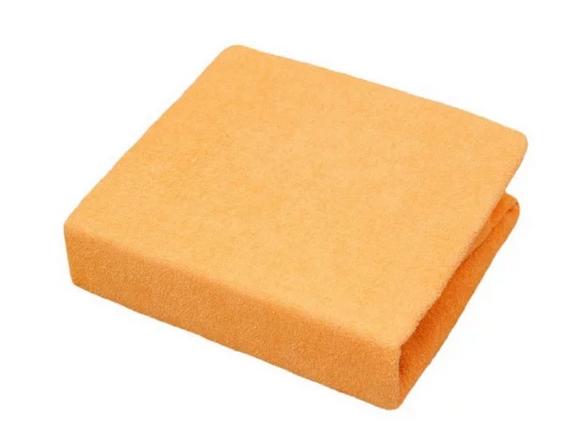 Froté prostěradlo do postýlky 120x60cm - oranžové, Velikost: 120x60