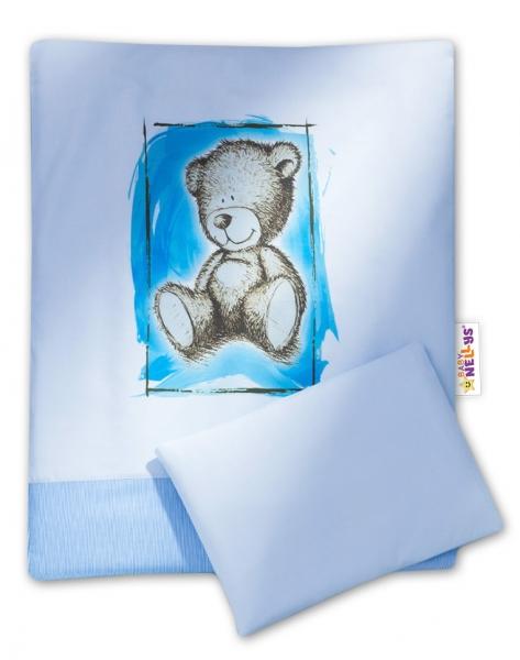 2-dílné povlečení do kočárku Sweet Dreams by Teddy - modré