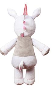 BabyOno Plyšová hračka s chrastítkem Jednorožec, 30cm - bílý