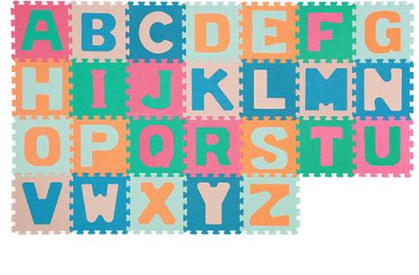 Dětské pěnové puzzle Abeceda, 26 ks - klasik