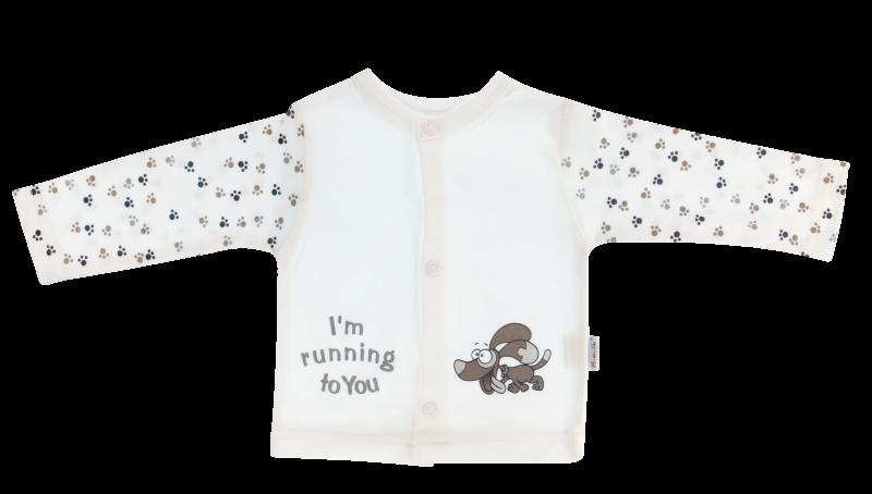 Bavlněná košilka Tlapka, bílá, Velikost: 56 (1-2m)