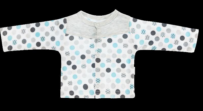 Mamatti Bavlněná košilka Bubble Boo  - tyrkys/šedá, vel. 62