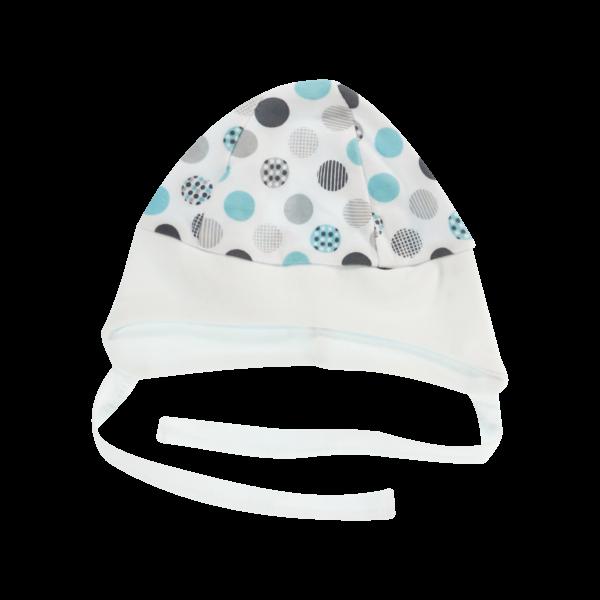 Čepička na zavazování Bubble Boo, tyrkys/bílý lem, vel. 68, Velikost: 68 (4-6m)
