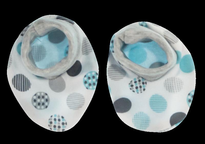Kojenecké botičky/ponožtičky Bubble Boo, tyrkys/šedá