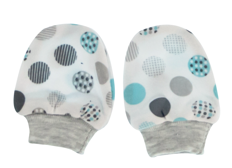 Kojenecké rukavičky Bubble Boo, tyrkys/šedé