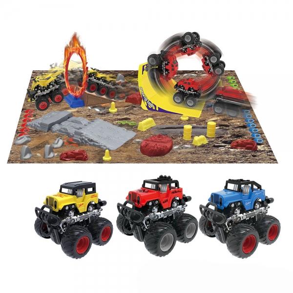 Dráha monster truck s autem 3 druhy