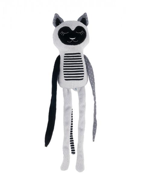 Canpol babies Plyšová hračka s rolničkou Spící lemur - šedý
