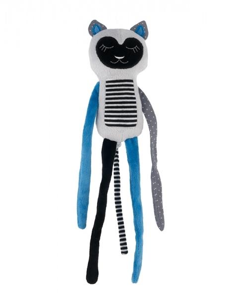 Canpol babies Plyšová hračka s rolničkou Spící lemur - modrý