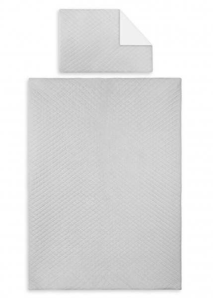 2-dílná sada, potah na polštářek a dečka Velvet lux Miminu, prošívané - šedý, 135x100 cm