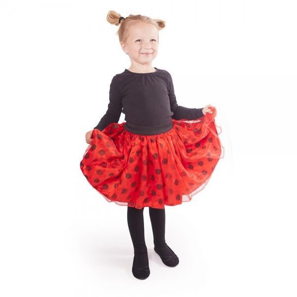 Dětský kostým tutu sukně beruška s puntíky