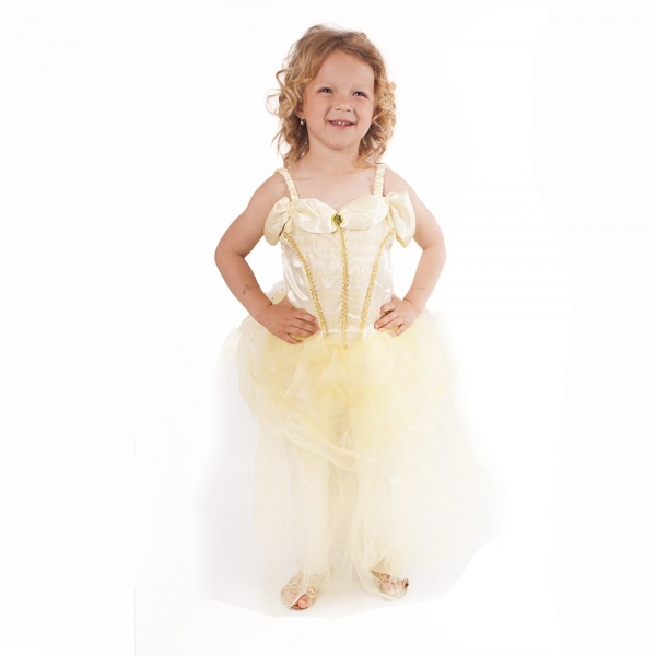 Dětský kostým zlatá princezna (M)