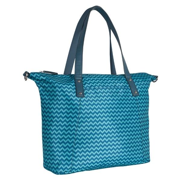 Přebalovací taška ke kočárku - tyrkys/zigzag