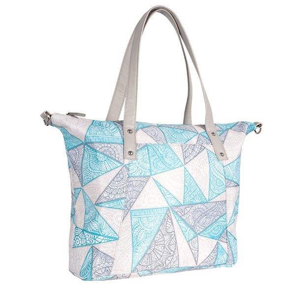 Přebalovací taška ke kočárku - béž/tyrkys/ornament