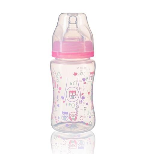 Antikoliková lahev se širokým hrdlem Baby Ono - růžová