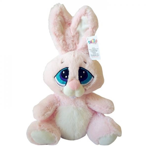 Plyšová hračka Králíček, 24 cm - růžový