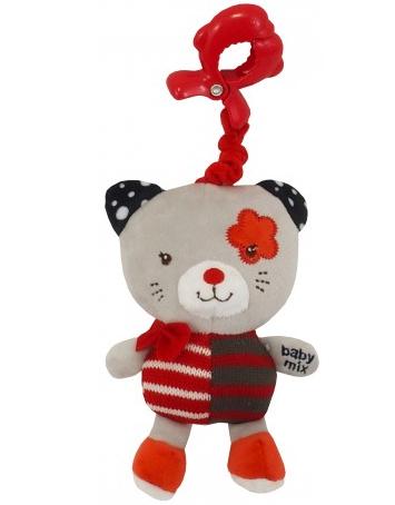 Baby Mix Závěsná hračka Kočička - červená