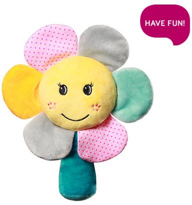 BabyOno Plyšová hračka s chrastítkem Rainbow Flower