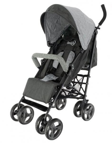 Euro Baby Dětský sportovní kočárek Smart Pro, 2019 - černý, Ce19