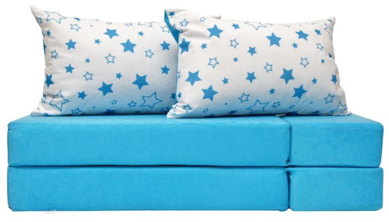 NELLYS Rozkladací dětská pohovka 3 v 1 - P33 - Magic stars - modré
