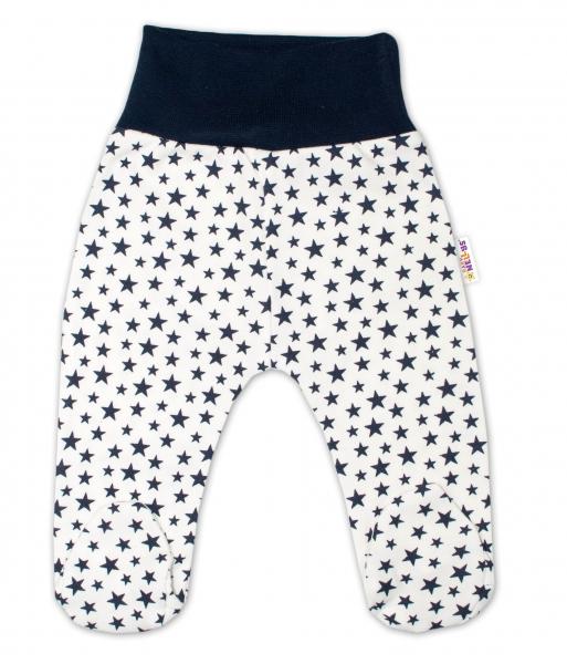 Bavlněné kojenecké polodupačky Baby Nellys ® - smetanové, mini hvězdičky - granát., vel.74