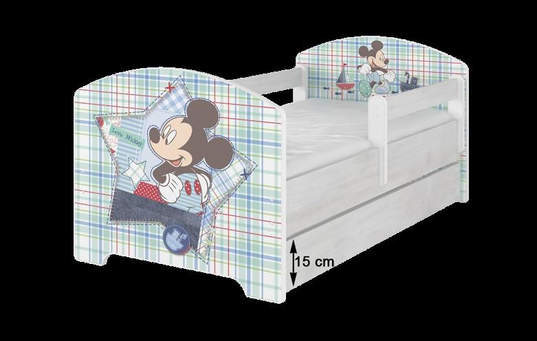 BabyBoo Dětská postel Disney - Minnie Srdíčko - bez zábran, D19