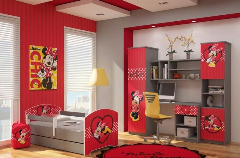 BabyBoo Dětská stěna Disney, 175x180 - Minnie Srdíčko, D19