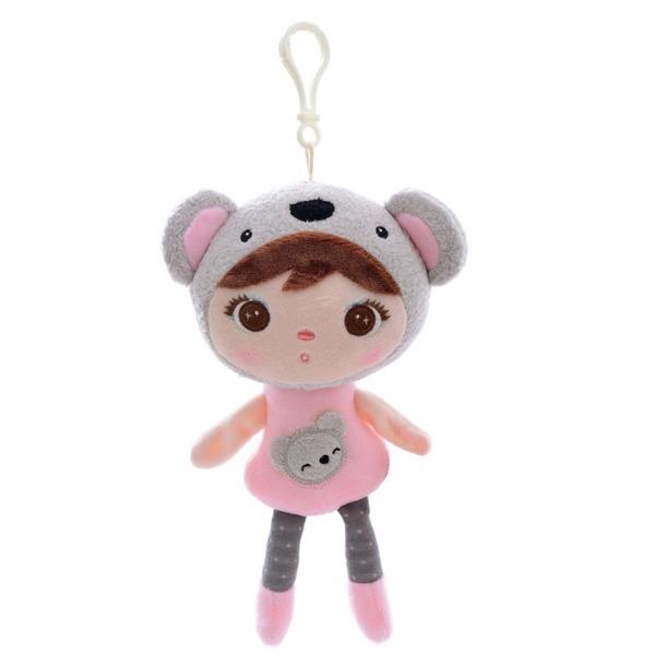 Mini hadrová panenka s klipem medvídek Koala, 22cm