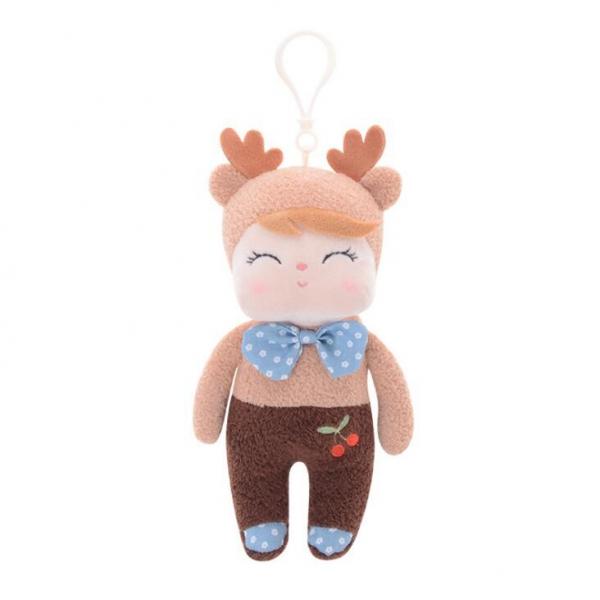 Mini hadrová panenka s oušky a klipem, Koloušek, 19cm