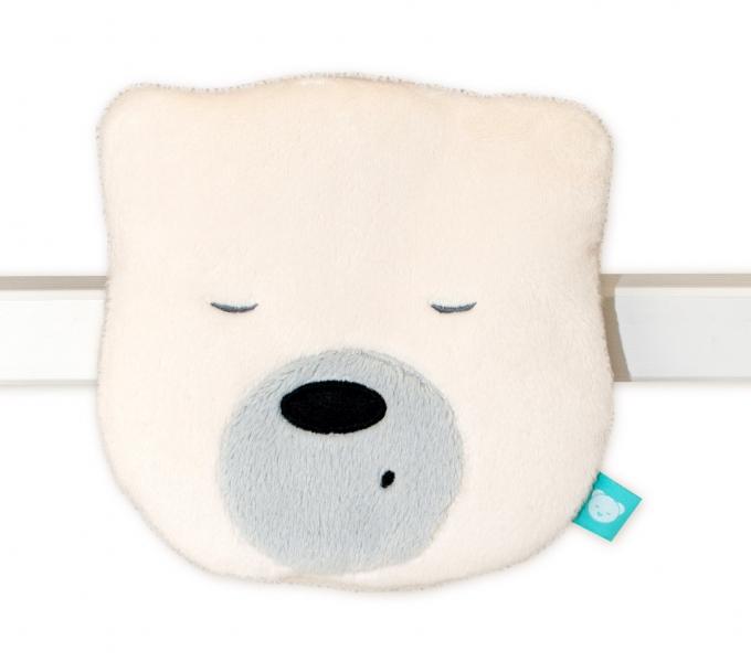 Mini šumící Medvídek - hlava - smetanová