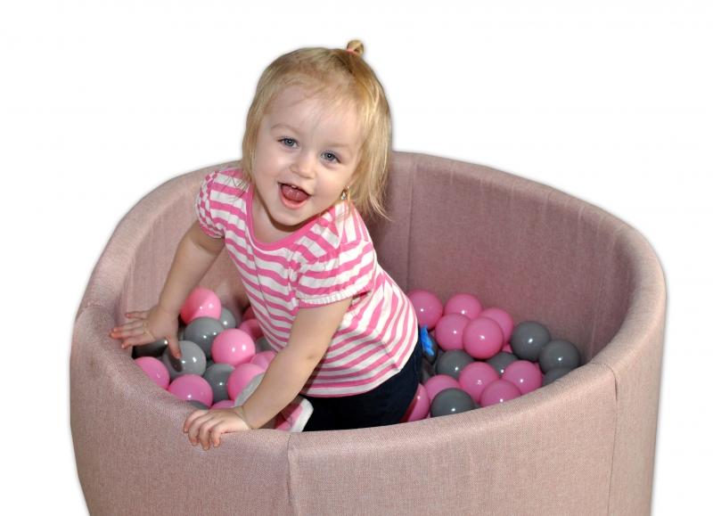 NELLYS Bazén pro děti 90x40cm - planety, růžový s balónky, Ce19