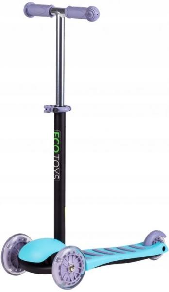 Eco toys Dětská tříkolová balanční koloběžka - modrá