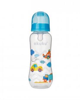 Plastová lahvička s obrázkem 250 ml - modrá - 1ks