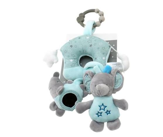 Závěsná plyšová hračka Sloník , 38 cm - mátový