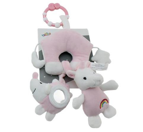 Závěsná plyšová hračka Jednorožec, 38 cm - růžový